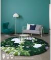 地毯 - 圓形花園圖案地毯 時尚有型 歡迎訂造
