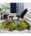 地毯 - 不規則經典花園圖案地毯 時尚有型 部屋必備