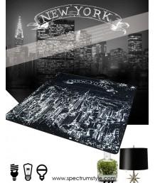 地毯 - 紐約夜景圖案數碼印刷地毯 時尚有型 潮人首選