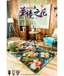 地毯 - 花花圖案數碼印刷地毯 時尚有型 潮人首選