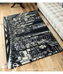 地毯 - 城市夜景圖案數碼印刷地毯 時尚有型 潮人首選