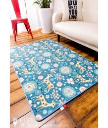 地毯 - 小鹿圖案數碼印刷地毯 時尚有型 潮人首選