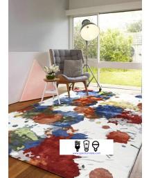 地毯 - 印度進口新西蘭羊毛藝術圖案地毯 時尚有型 潮人首選