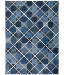 牛皮地毯 - 進口牛皮牛仔布拼接地毯 潮人必備 家中亮點 手工製作