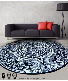 地毯 - 藝術圖案數碼印刷圓形地毯 時尚有型 潮人首選