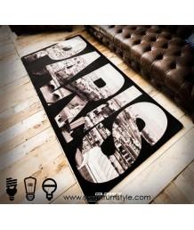 地毯 - 巴黎藝術圖案數碼印刷地毯 時尚有型 潮人首選
