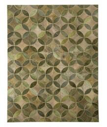牛皮地毯 - 進口綠色牛皮地毯 潮人必備 家中亮點 手工製作