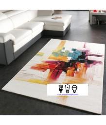 地毯 - 土耳其進口晴綸紗水彩圖案地毯 時尚有型 潮人首選