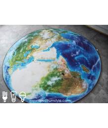地毯 - 立體地球圖案數碼印刷圓形地毯 時尚有型 潮人首選