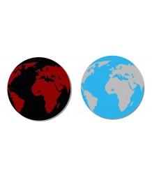 地毯 - 圓形地球圖案地毯 時尚有型 歡迎訂造