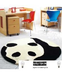 地毯 - 圓形熊貓圖案地毯 經典時尚 歡迎訂造