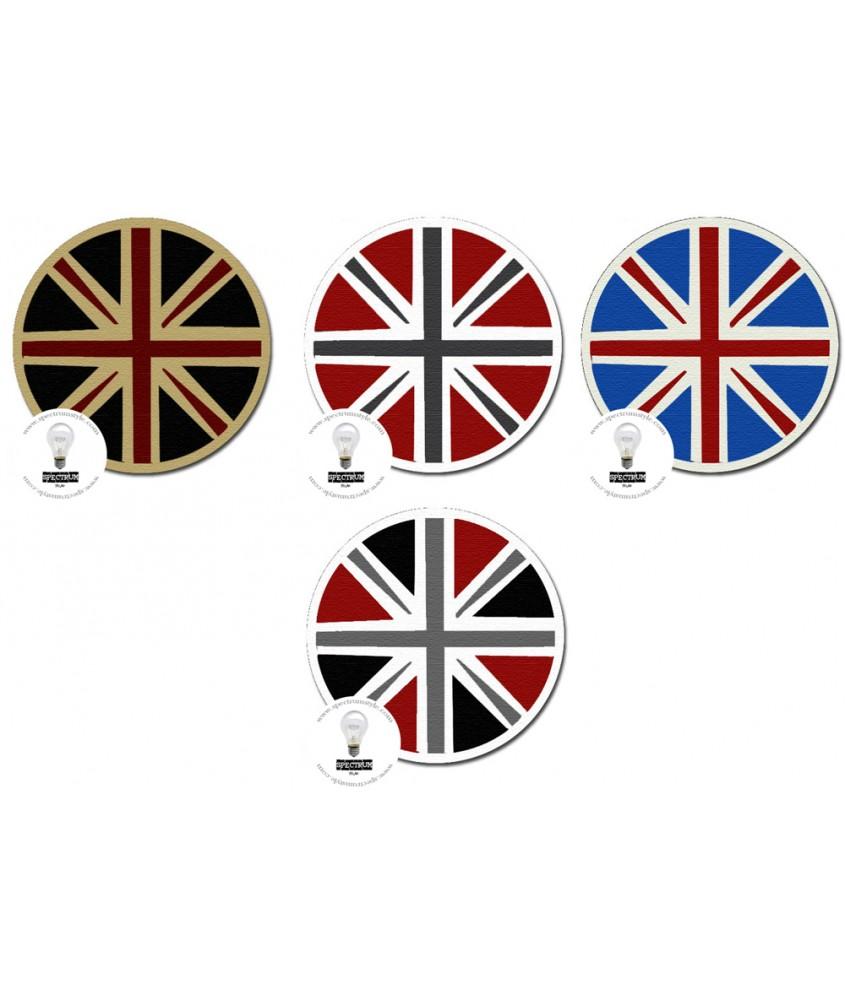 地毯- 圆形英国米字旗图案地毯 经典时尚 每平方呎$100 欢迎订造