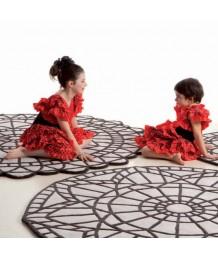 地毯 - 圓形法國情懷圖案地毯 經典時尚 歡迎訂造