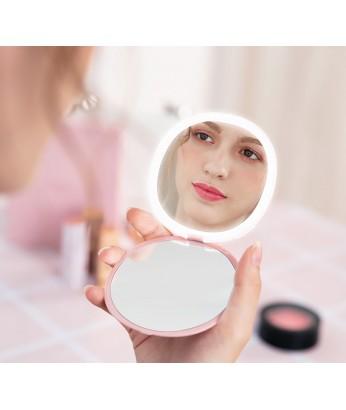 精品 - 韓國設計LED化妝鏡 USB充電 輕盈方便 女士恩物