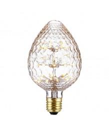 燈膽 - 刻花玻璃松果LED燈膽 經典款式 全新演繹