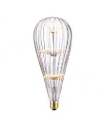 燈膽 - 刻花玻璃流星槌LED燈膽 經典款式 全新演繹