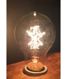 燈膽 - 復古愛迪生A19星型鎢絲燈膽 經典款式 全新演繹