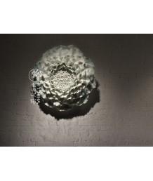 懷舊精品 - 手捏影青陶瓷牡丹花牆飾 貴氣盎然 品味之選