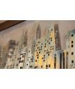 懷舊精品 - 經典紐約公寓金屬立體掛畫 工業品味 型人之選