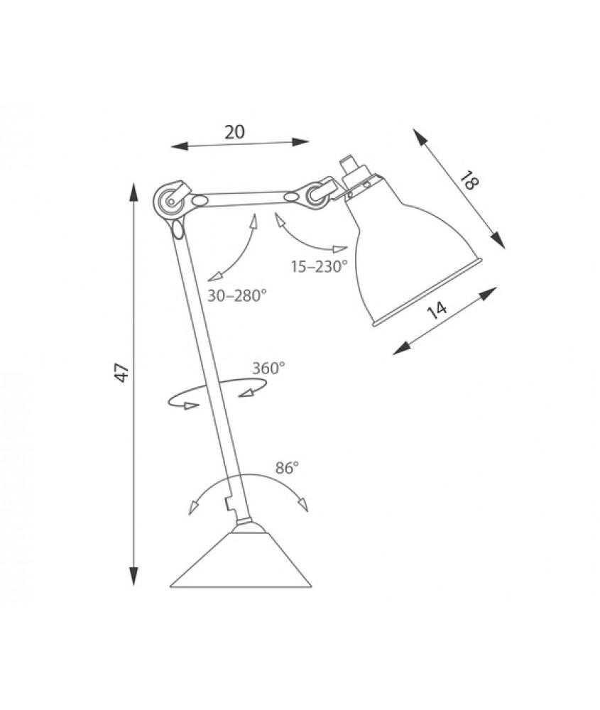 台橙- 北欧风格机械臂台灯 设计特别 品味之选