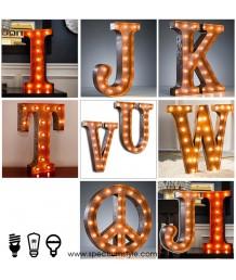 庹身訂造 - 訂造復古工業字母壁燈 品味之選 潮人必購